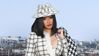 In this Oct. 1, 2019, file photo, Cardi B attends the Chanel Womenswear Spring/Summer 2020 show as part of Paris Fashion Week in Paris, France.