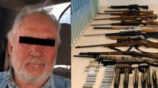 Armas decomisadas a líder del grupo criminal La Línea