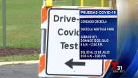 Centro de pruebas de COVID-19 en Osceola