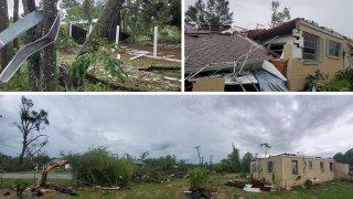 Posible tornado toca tierra en DeLand.