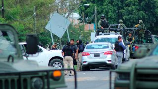 Retenes militares en Guanajuato