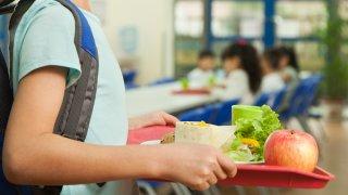 Girl holding lunch