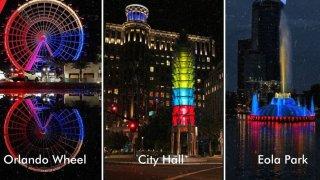 Orlando se pinta de amarillo, azul y rojo por la independencia de Colombia