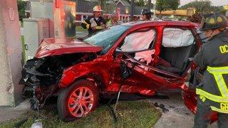 Aparatoso accidente en Ocala deja 5 personas hospitalizadas